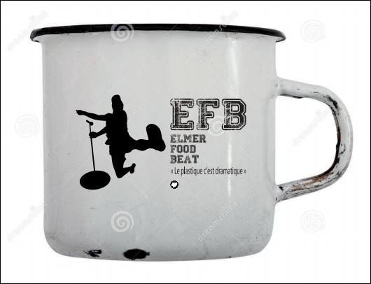 Mug vintage en métal